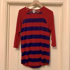 LLR Randy - Red & Blue Striped Top